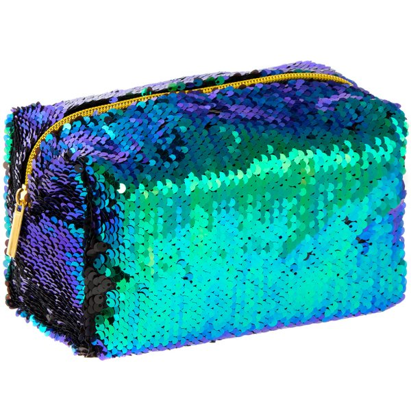 SEQUIN COSMETIC BAG MULTI COLS