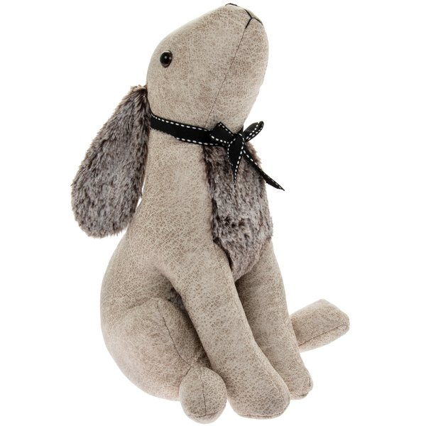 CRM FAUX LEATHER HARE DOORSTOP