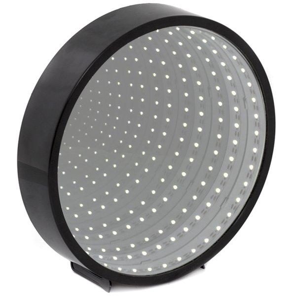 INFINITY MIRROR ROUND BLK LED