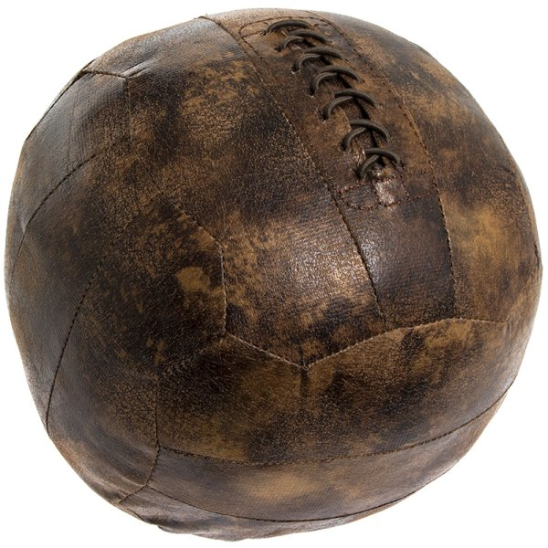FAUX LEATHER FOOTBALL DOORSTOP
