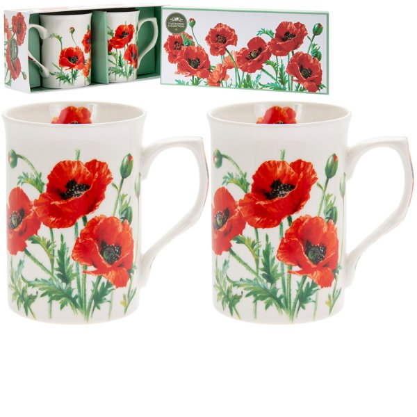 POPPY MUGS SET 2