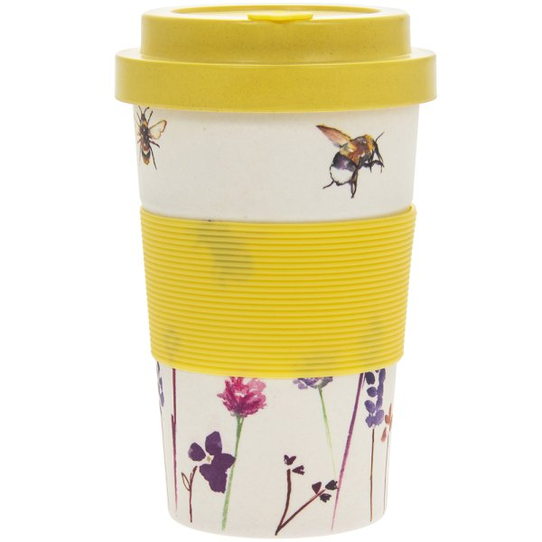 BAMBOO BUSY BEES TRAVEL MUG