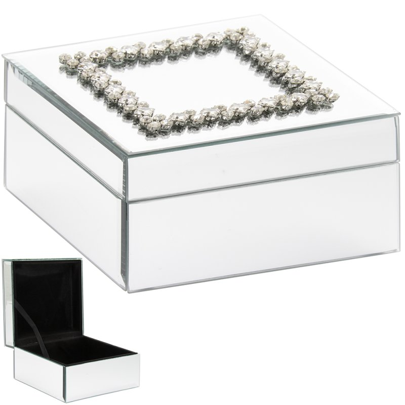 MIRROR DAMANTE JEWELLERY BOX
