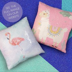 Sequin Mermaid Cushions... on Social Media!
