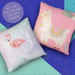 Sequin Mermaid Cushions... on Social Media!