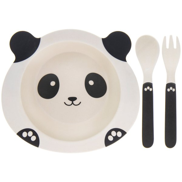 BAMBOO ECO EATING SET PANDA