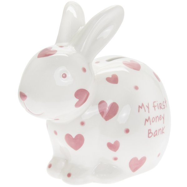 MY 1ST MONEY BOX RABBIT PINK