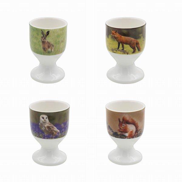 WILDLIFE EGG CUPS S/4