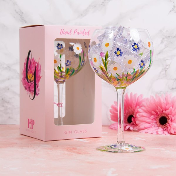 DAINTY DAISIES GLASS