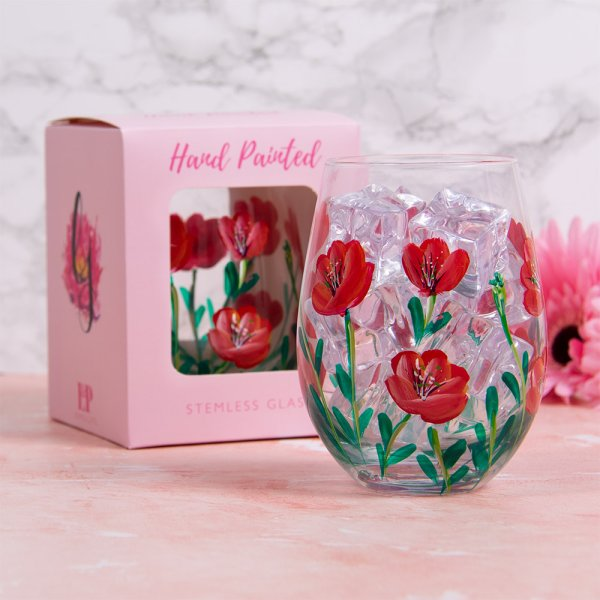 POPPIES STEMLESS GLASS