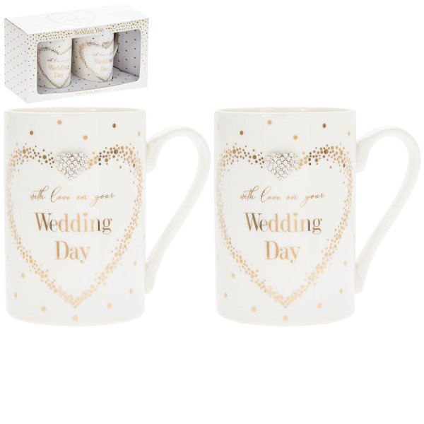 MAD DOTS WEDDING MUGS