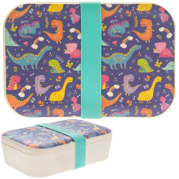 BAMBOO ECO LUNCH BOX DINOSAUR