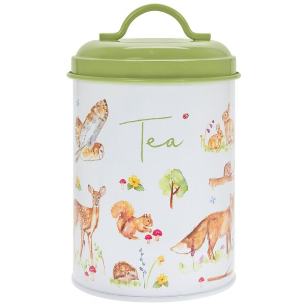 WOODLAND WILDLIFE TEA CANISTER