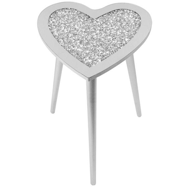 CRYSTAL HEART TABLE 38X38X50
