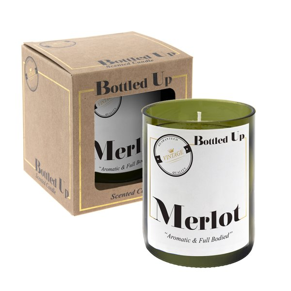 MERLOT BOTTLE CANDLE