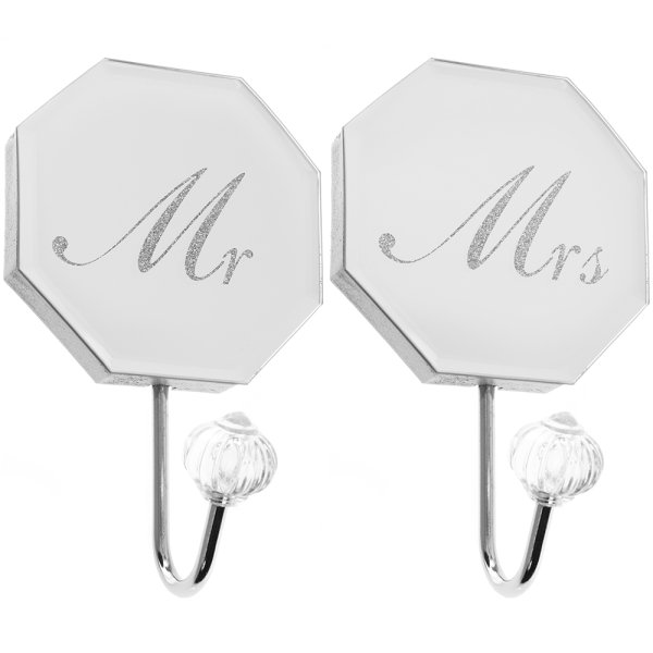 MIRROR MR&MRS WALL HOOK SET