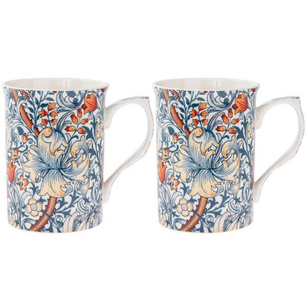 GOLDEN LILY MUGS 2 SET