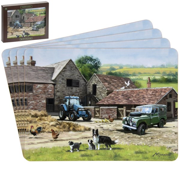 FARMYARD PLACEMATS 4SET
