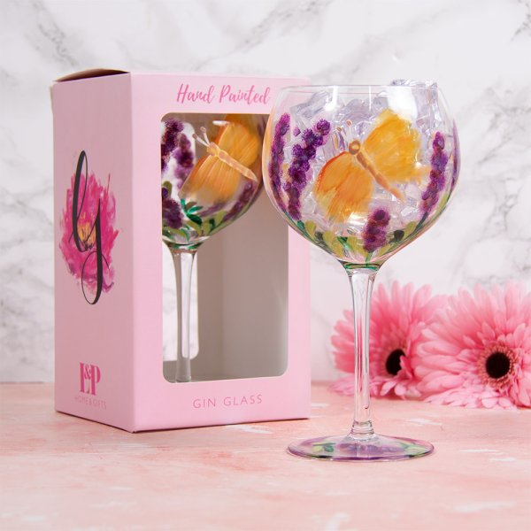 BUTTERFLY GIN GLASS