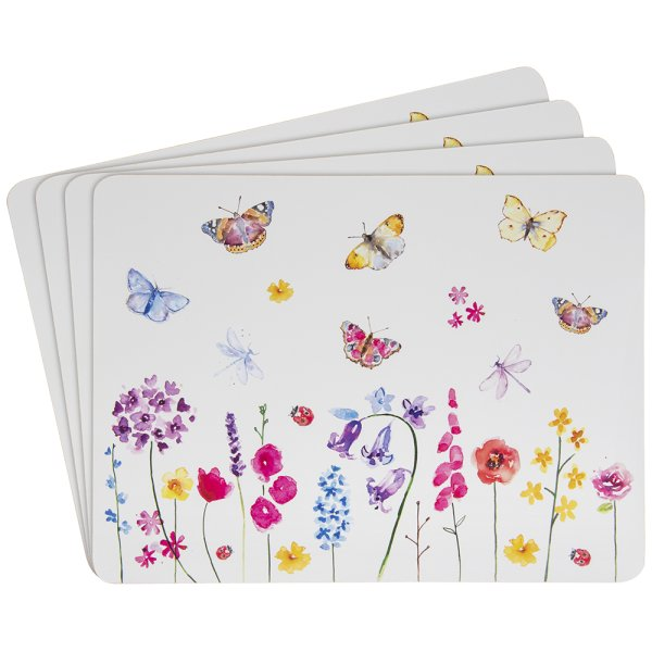 BUTTERFLY GRDEN PLACEMATS 4SET