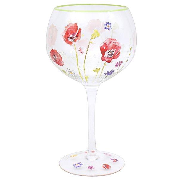 POPPY FIELD GIN GLASS