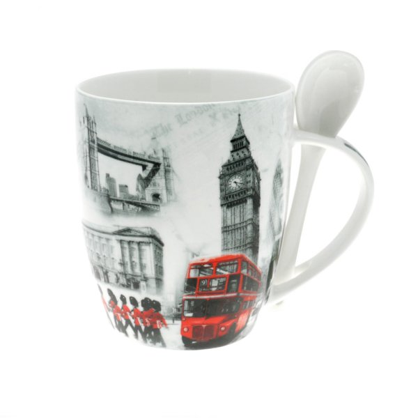 LONDON MUG WITH SPOON