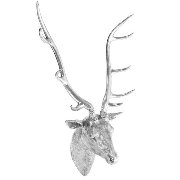 SILVER ART STAG BUST XL