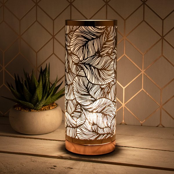 DESIRE LEAF TOUCH LAMP ROSEGLD