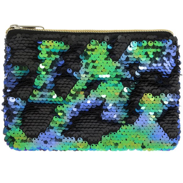 SEQUIN PURSE MULTI COLOURED