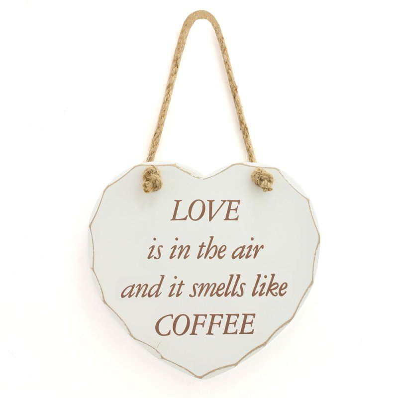 LOVE IS IN THE AIR COFFEE PLQ