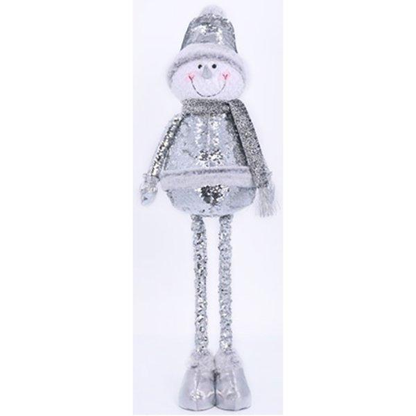 SNOWMAN W/TELESCOPE SEQUIN SIL