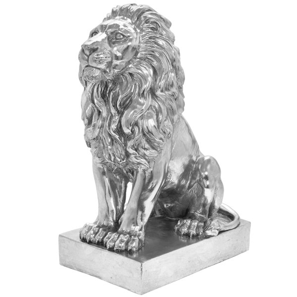 SILVER ART LION SITTING