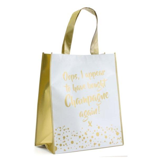 CHAMPAGNE SHOPPING BAG