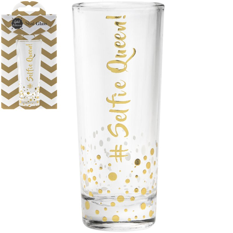 GOLD SHOT GLASS # SELFIE QUEEN : Lesser & Pavey