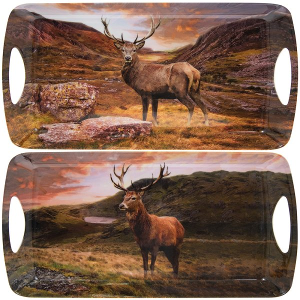STAGS MEDIUM TRAY 2 ASST