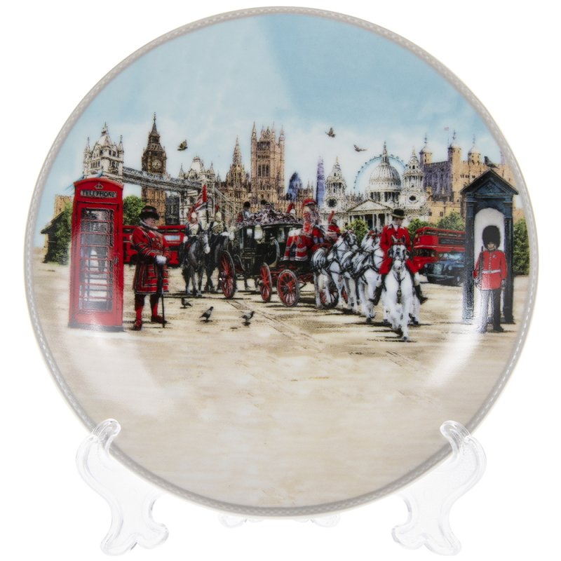 """LONDON COLLAGE PLATE STAND 6"""""""