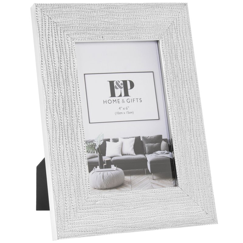 SILVER WEAVE PHOTO FRAME 4X6