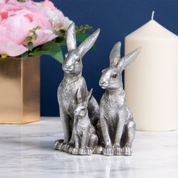 REFLECTIONS SILVER HARES&BABY
