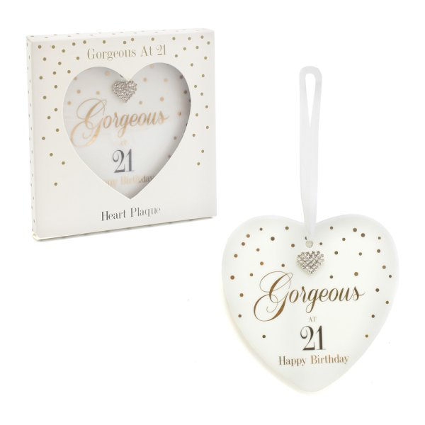 MAD DOTS 21ST HEART PLAQUE
