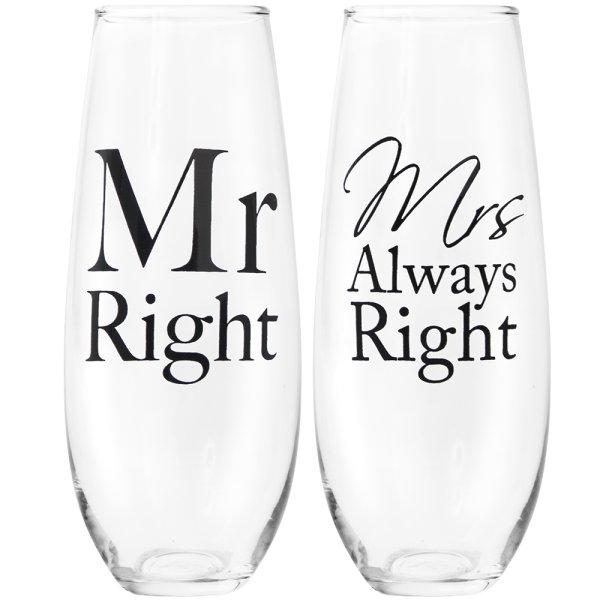 MR&MRS RIGHT STEMLESSFLUTES S2
