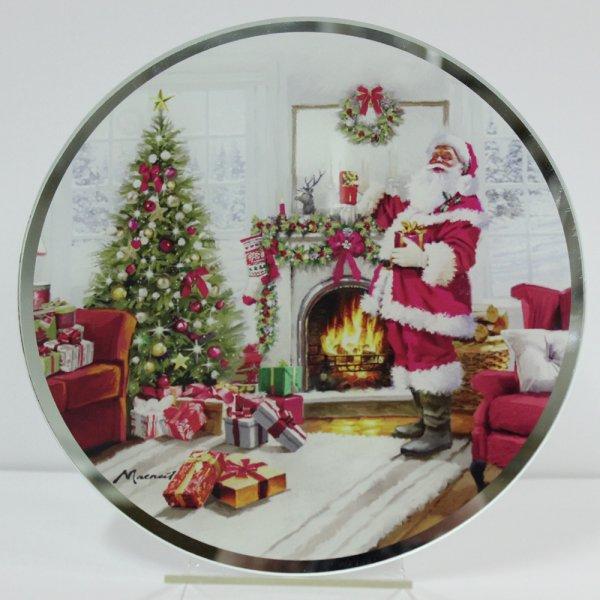 CHRISTMAS SANTA CANDLE PLATE