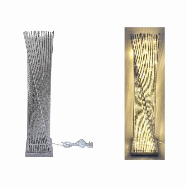 SILVER LED LAMP TWIST 100CM