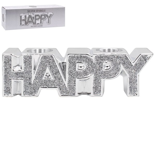 SILVER SPARKLE HAPPY