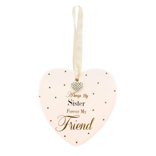 MAD DOTS SISTER HEART PLAQUE