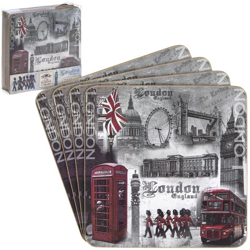 LONDON COASTERS SET 4