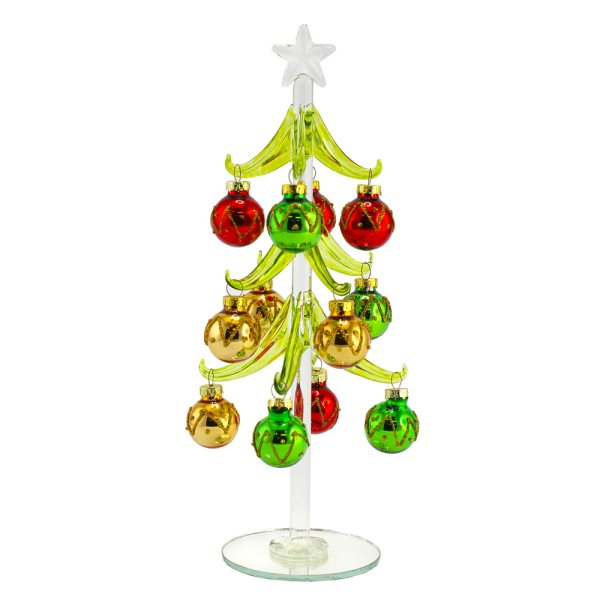 XMAS TREE COLOUR BAUBLE 25CM