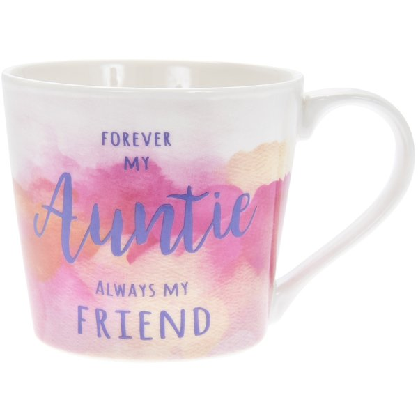 WATERCOLOUR FOREVER AUNTIE MUG
