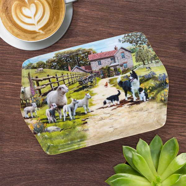 COLLIE & SHEEP TRAY SML