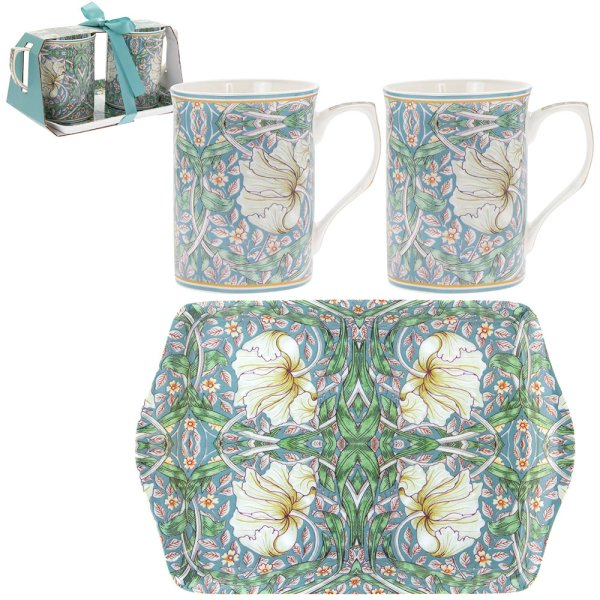 PIMPERNEL 2 MUGS AND TRAY SM