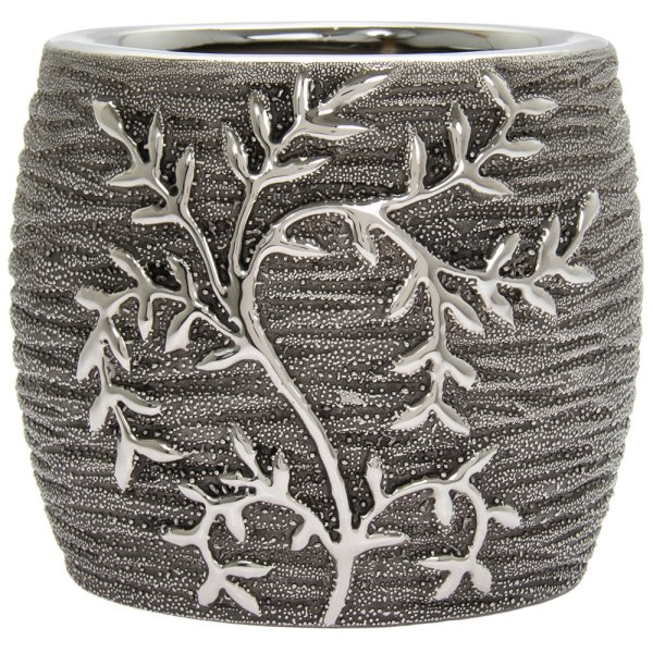 GUNMETAL LEAVES PLANTER S